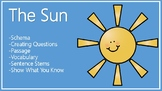 The Sun Schema, Questions, Passage, Vocabulary, Sentence Stems
