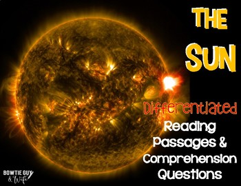 The Sun: Space Leveled Texts {Differentiated  Reading Pass