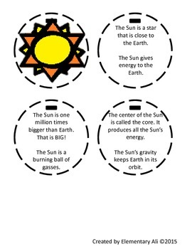 The Sun, The Earth, and The Moon Fact Books