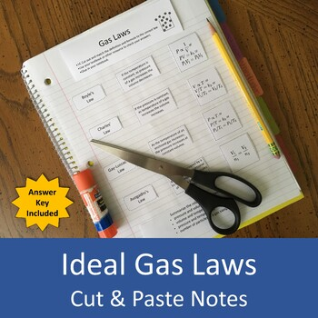 Gas Laws Cut and Paste Notes