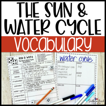 The Sun & Water Cycle Fun Interactive Vocabulary Dice Activity EDITABLE