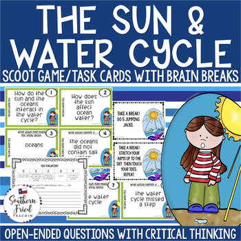 The Sun & Water Cycle Scoot Game/Task Cards