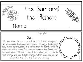 The Sun and Planets Book to Cut and Create, Matching Cards, and Posters