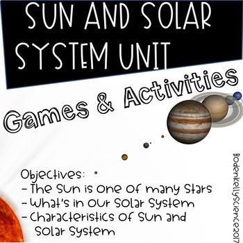 The Sun and Solar System Unit Bundle