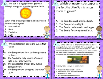 The Sun and The Water Cycle STAAR TEK: 3.8B