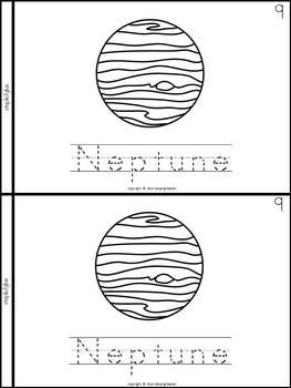 The Sun and the Planets Book for Kindergarten and 1st Grade {Block Print Style}