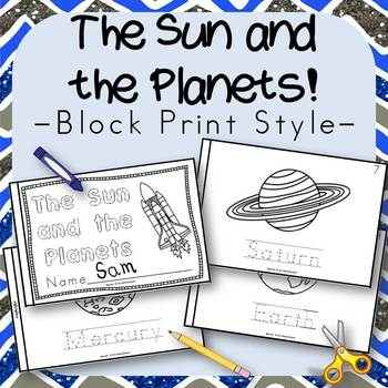 The Sun and the Planets Book for Kindergarten and 1st Grad