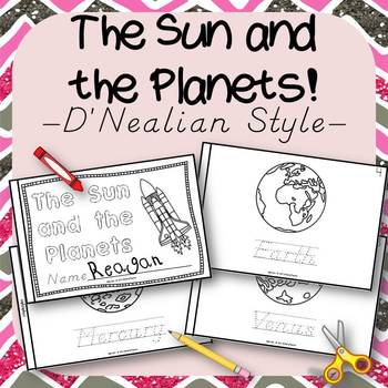 The Sun and the Planets Book for Kindergarten and 1st Grade {D'Nealian Style}