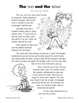The Sun and the Wind (An Aesop Fable)