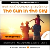 The Sun in the Sky • Reading Comprehension Passages and Questions • RL I