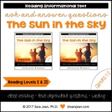 The Sun in the Sky • Reading Comprehension Passages and Questions • RL I & II