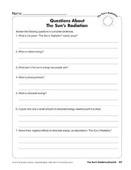The Sun's Radiation