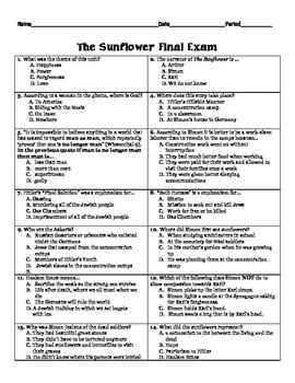 The Sunflower Final Exam