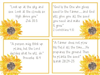 The Sunflower Parable Bible Verses