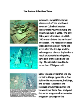 The Sunken Atlantis of Cuba