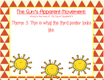 The Sun's Apparent Movement Song/Rhyme