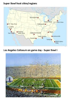 The Super Bowl  - American Football Handout
