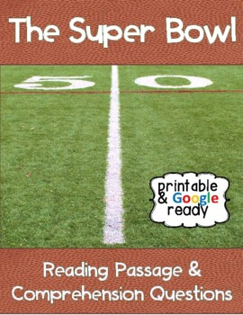 The Super Bowl Close Reading Passage and Questions
