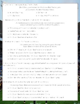 The Super Bowl Close Reading Comprehension Passage and Questions