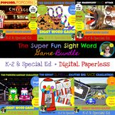 The Super Fun Sight Word Game Bundle - Paperless, Digital