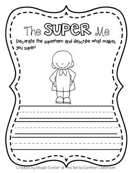 The Super Me {Freebie Activity}