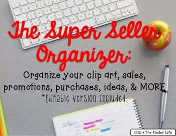 FREEBIE The Super Seller Organizer: Editable Version Included