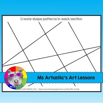 Shape Art Book, Art Lessons