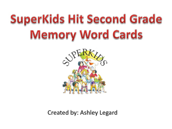 The SuperKids Hit Second Grade Memory Word Cards
