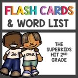 2nd Grade Word Wall Cards & Spelling List 1st Semester