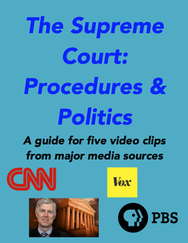 The Supreme Court: Procedures and Politics Web-links Guide