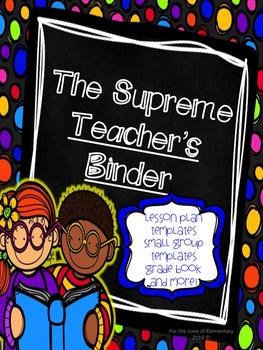 The Supreme Teacher Binder