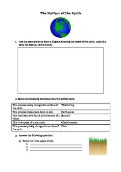 The Surface of the Earth for 3rd Grade
