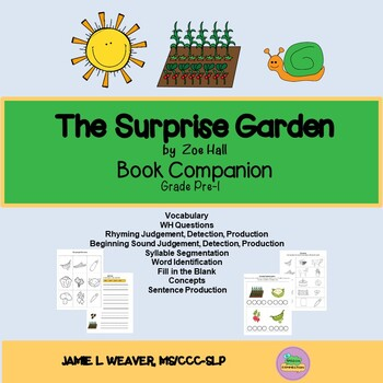 The Surprise Garden by Zoe Hall Language Literacy Book Companion