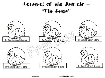 Swan, The from the Carnival of the Animals (Finger Puppets)