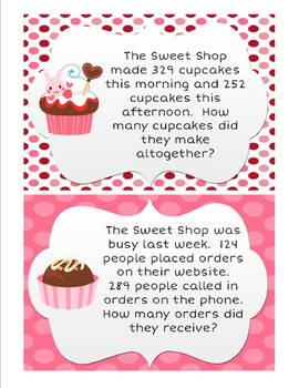 The Sweet Shop: 2 & 3 digit addition & subtraction word problem activities