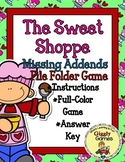 The Sweet Shoppe Missing Addends File Folder Game