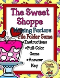 The Sweet Shoppe Missing Factors File Folder Game
