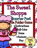 The Sweet Shoppe Quarter Past the Hour File Folder Game
