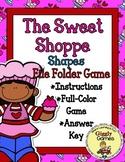 The Sweet Shoppe Shapes File Folder Game