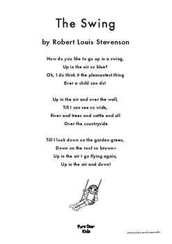 The Swing A Poem By Robert Louis Stevenson By Pure Star