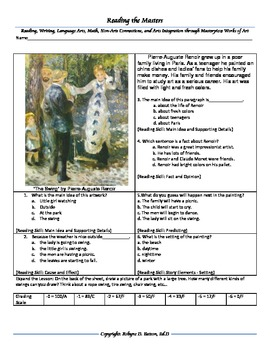 """Intervention & Test Prep with """"The Swing"""" by Renoir"""