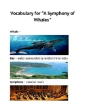 The Symphony of Whales Vocabulary