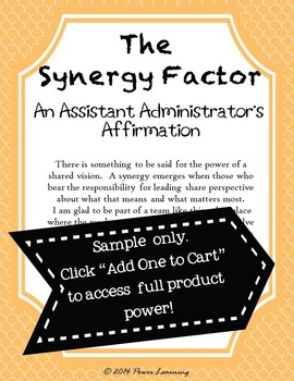 An Assistant Administrator's Affirmation (Professional Development)