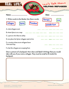 The Syrian refugee crisis - Discussion guide and activity sheets