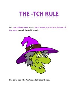 The TCH Spelling Rule