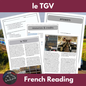 The TGV - a reading for int/adv French learners