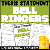 THESIS STATEMENT BELL RINGERS Daily Thesis Statement Digital Worksheets