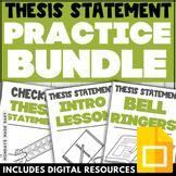 THESIS STATEMENT DIGITAL BUNDLE Practice Worksheets Thesis