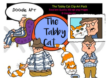 The Tabby Cat Clipart Pack