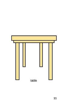 'The Table' Volume 3 PreReader by Carol Lee Brunk Comprehension Book